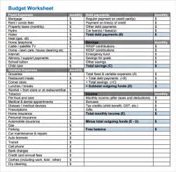 Basic Budget Template by Best Photos Of Simple Budget Worksheet Simple Budget