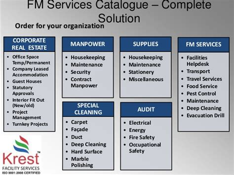 service facilities krest facility management services