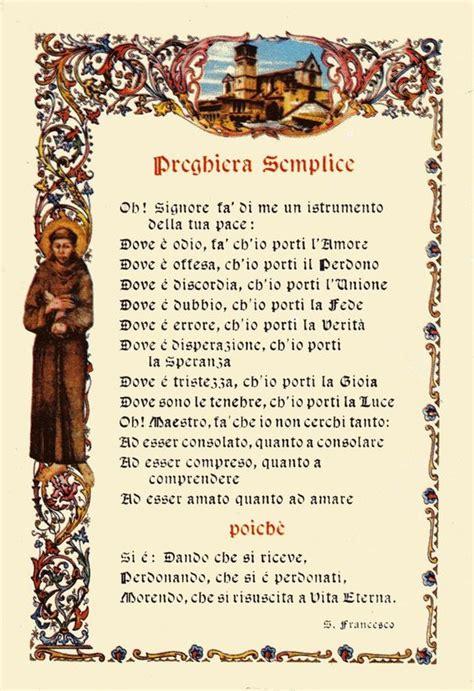 preghiera semplice testo preghiera semplice di san francesco d assisi quotes and