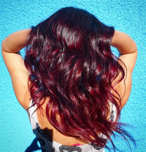 cherry cola brown hair color texture of the old brass of chocolate cherry ombre hair