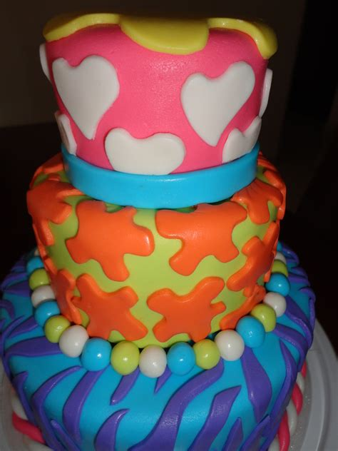 colorful birthday cakes colorful cake birthday fondant cakecentral
