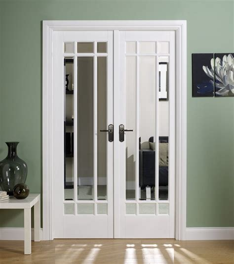 3 panel french doors interior closet doors the manhattan white primed internal french doors with clear