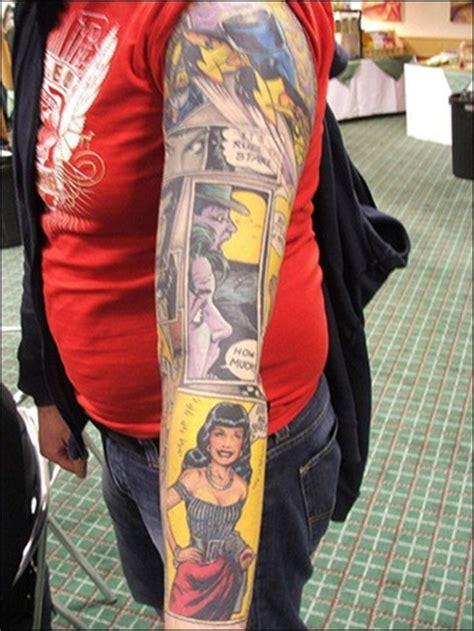 comic book sleeve tattoo designs great comic book tattoos