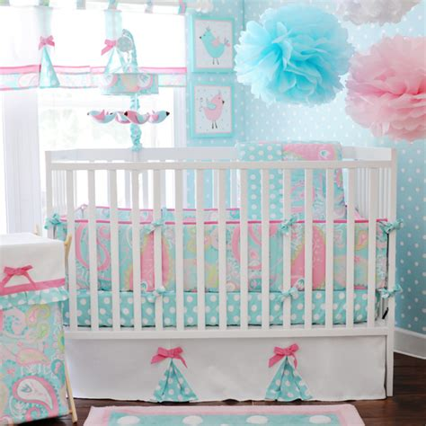 Pink And Blue Crib Bedding by Paisley Baby Bedding