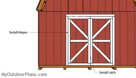 How To Hang Shed Doors by Barn Shed Doors Plans Myoutdoorplans Free