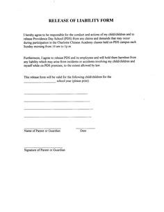 Printable Sle Release And Waiver Of Liability Agreement Form Laywers Template Forms Online General Liability Waiver Form Template