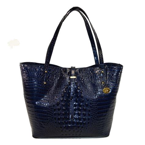 Quincylabel Croco Tote Bag Blue brahmin navy blue leather all melbourne croco tote tradesy