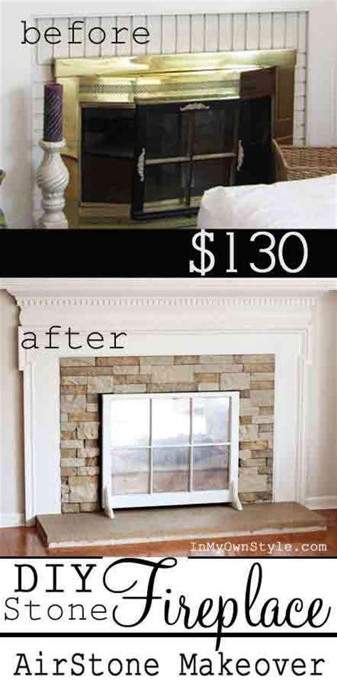 diy fireplace makeover on a budget easy hacks