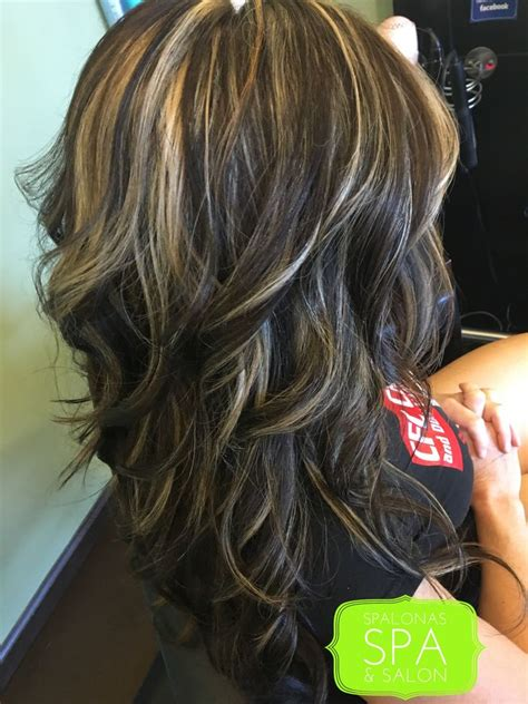 blending grays on black hair rich dark neutral chocolate brown with blended highlights