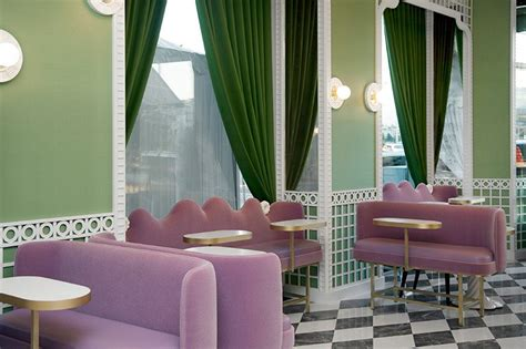 india mahdavi creates  garden  delights  laduree