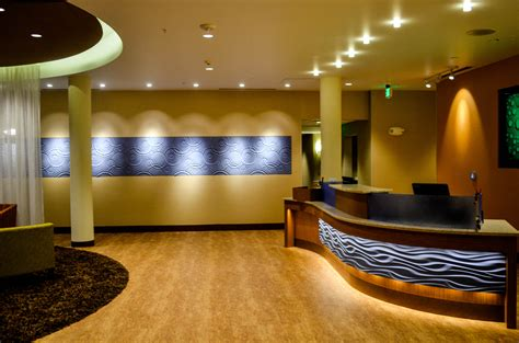 layout of front office in hotel springhill suites in coeur dalene receives hotel millwork