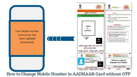 mobile otp how to change mobile number in aadhaar card without otp