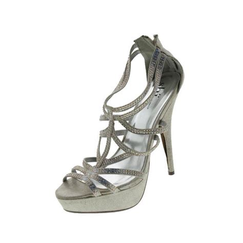 silver strappy evening sandals shi by journeys spice silver evening strappy sandals shoes