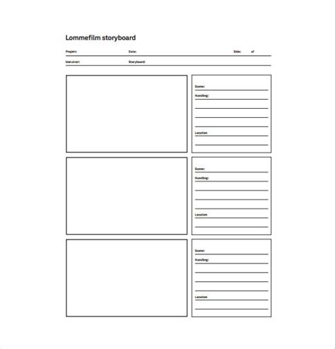 Free Storyboard Templates by Storyboard Template Pdf Print Www Imgkid The Image