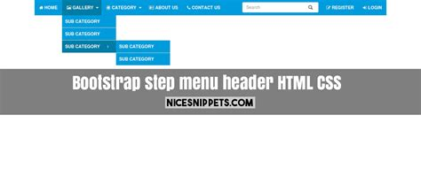 banner design using css responsive step menu design with header using html css and
