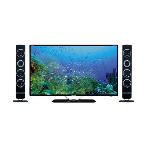 Tv Led 32 Inch Polytron Cinemax jual polytron pld32t100 led tv hitam tower cinemax 32