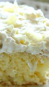 Light and fluffy pineapple infused cake topped with a sweet and