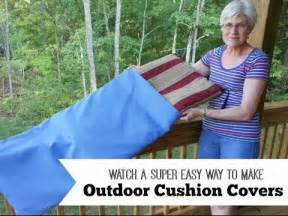 easy way to make outdoor cushion covers youtube