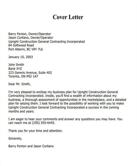 cover letter for bid 38 business letter exles