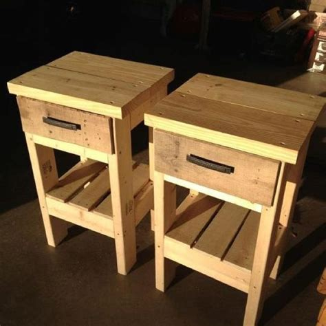 How To Make A Nightstand by How To Build A Nightstand Out Of Pallets Bijaju54