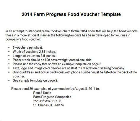 food voucher template food voucher template 8 download documents in pdf