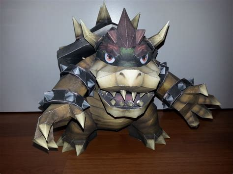 Bowser Papercraft - bowser papercraft by darktrainerhawk on deviantart