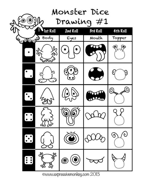 doodle dice nz guided drawing ideas for drawing a by the roll of