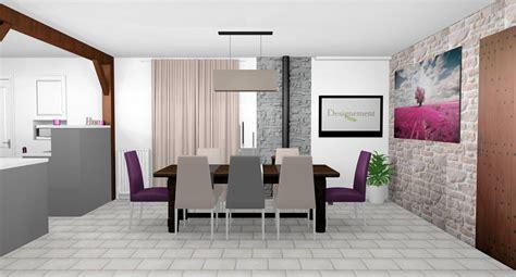Superior Cuisine Beige Et Prune  #5: Cuisine-ouverte-salle-a-manger-campagne-chic-blanc-gris-beige-prune-pierre-table-ferme-3-1.jpg
