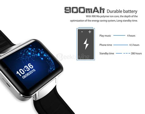 Android Smart Dm98 Rate Smartwatch Dm 98 Black dm98 3g smart phone silver