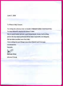 Cover Letter For Employer by Reference Letter Sle Previous Employer Cover Letter