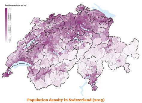 population density map of switzerland population density in switzerland 2015