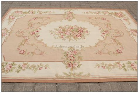 8x10 shabby chic aubusson rug light pink ivory