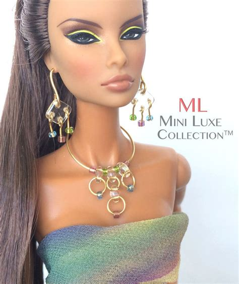 fashion doll jewelry 550 best doll jewelry by mini luxe collection images on