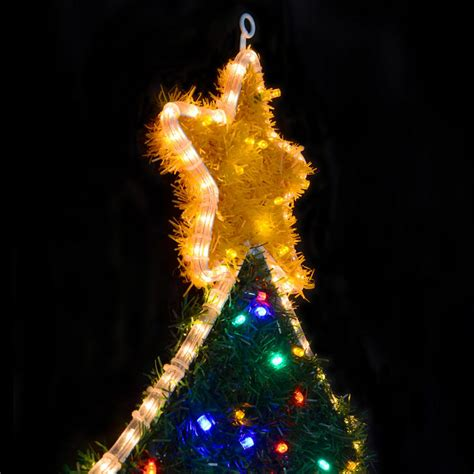 mains voltage festive christmas tree rope light with