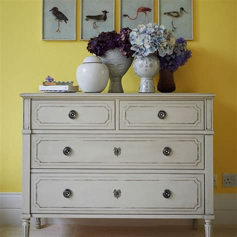 Yellow Kitchen Decorating Ideas Yellow Hallway With Painted Chest Of Drawers Hallway