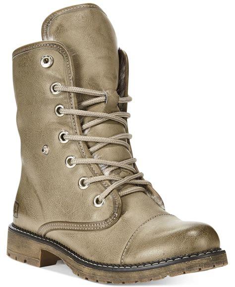 laundry boots lyst laundry razorbill combat boots in gray