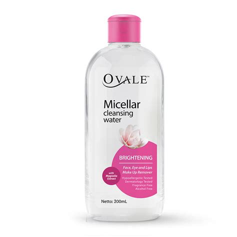 Ovale Pembersih Wajah jual ovale micellar water brightening 200ml jd id