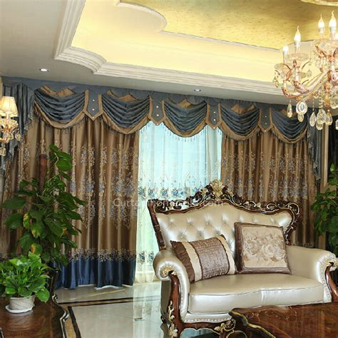 brown curtains for living room luxury european cotton poly blend fabric brown color