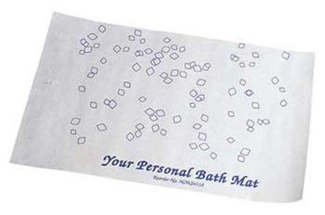 Disposable Shower Mats - disposable bath mats
