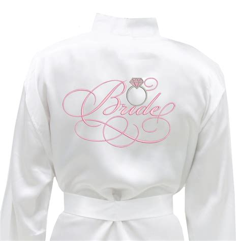 Bridal Robes by Satin Bridal Robe With Ring Engagement Gift