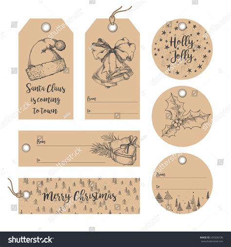 gift vector label elements webbyarts collection new year noel gift stock vector