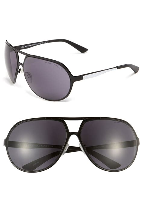 Glasses Gucci 9983 Ax armani exchange aviator sunglasses in black for matte black lyst