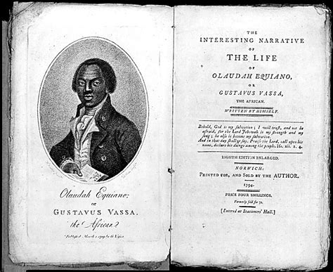 the of olaudah equiano books digital factory summary of narrative of the of