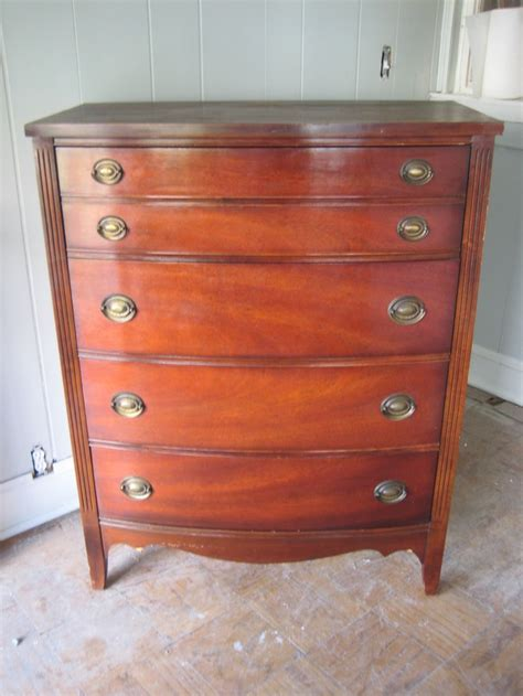 Vintage Dixie Dresser by Vintage Mahogany Four Drawer Dresser Dixie Brand