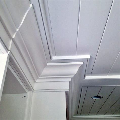 shiplap molding ideas shiplap ceiling with crown molding www energywarden net