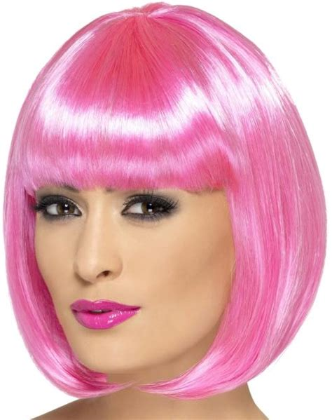 short bob with fring pieces ladies short bob hair with fringe girls party wig 12