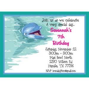 dolphin birthday party invitation ideas bagvania free