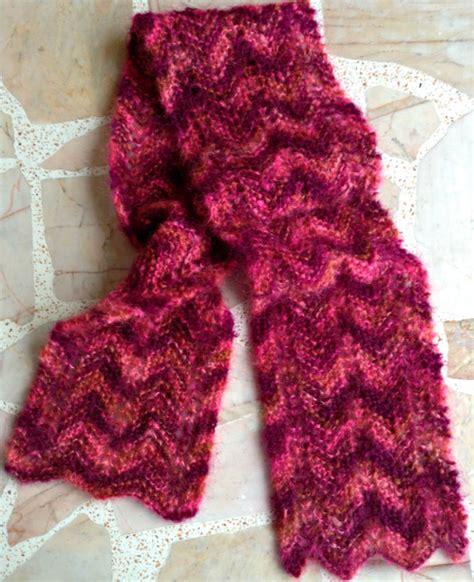 free pattern knit mohair scarf free pattern eyelet zigzag garter stitch knit scarf in