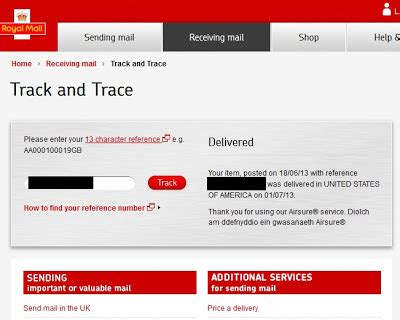 Royal Mail Address Lookup Bugs And Fishes By Lupin Tracking Airsure Parcels Internationally