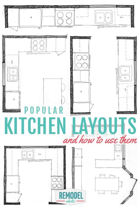 kitchen design layouts remodelaholic popular kitchen layouts and how to use them